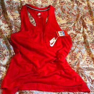 red Nike tank top
